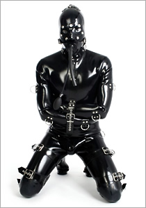 high end bondage suit blackstyle latexbekleidung aus berlin rubberwear from berlin. Black Bedroom Furniture Sets. Home Design Ideas