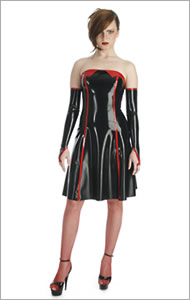 cocktail dress blackstyle latexbekleidung aus berlin rubberwear from berlin latexanz ge. Black Bedroom Furniture Sets. Home Design Ideas