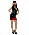 03022 Mini skirt with asymmetric deco panel