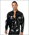 22004 Latex denim style jacket