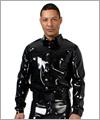 24018 Latex Policeshirt mit langem Arm