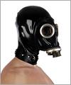 41037 Russian gasmask GPA with hood and lockable slave collar