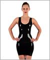 01001 Latex vest dress
