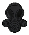 48062 Latex patch gas mask - black