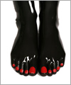 42077 Toe socks with red toe nails