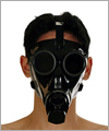 41069 Swiss gasmask S67, semi trans black lenses