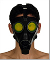 41070 Swiss gasmask S67, yellow luorescent  lenses