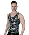 24020 Latex Trägershirt Camouflage