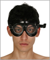 40902 Rubber safety goggles, clear lenses