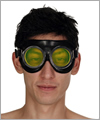 40904 Rubber safety goggles, fluorescent yellow lenses
