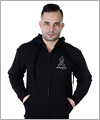 24616 Hooded sweat jacket with Man on knees logo
