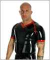 24024 Latex raglan-shirt with piping