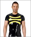 24034 T-shirt with contrast appliqué