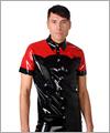 24041 Slimfithemd mit kurzem Arm, zweifarbig
