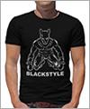 24613 T-Shirt -Mann mit Hundemaske- Frontdruck
