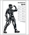 82155 Poster Kalender 2016 - Mann in Waders