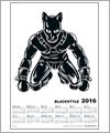 82156 Poster Kalender 2016 - Mann mit Hundemaske