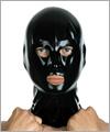 40503 Latex Maske, Nase, Mund und Augen offen